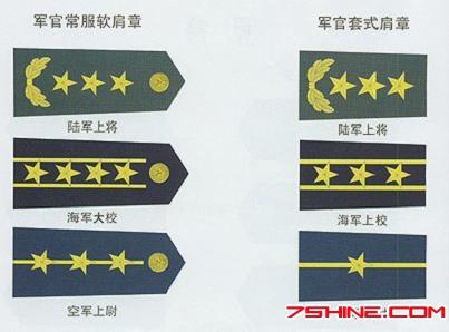 绚丽多彩的07式军服标志服饰图片